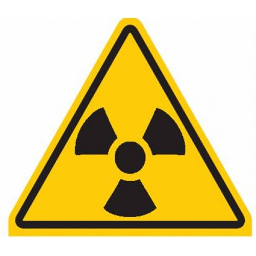 Waarschuwingssticker ioniserende straling